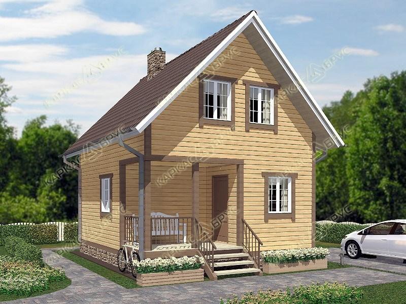 Проект дачного дома 5х8 с мансардой